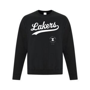TL Black Crew Sweatshirt White Script Logo
